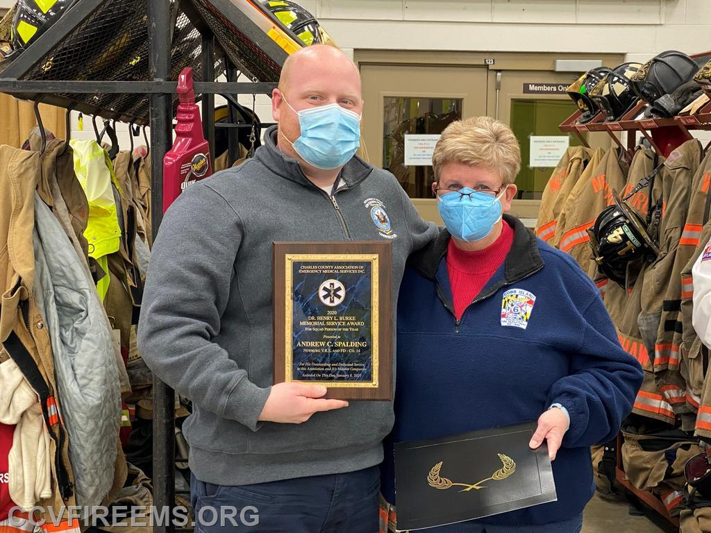 pictured with Joellen Lawman, last years recipient